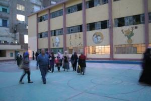 Scuola al Cairo dove sono stati tenuti gli scrutini del referendum