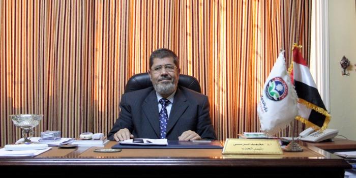 El Morsy nell'ufficio del partito Libertà e Giustizia