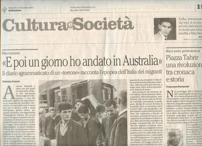 Recensione de Il Mattino Napoli (11 dicembre 2012)