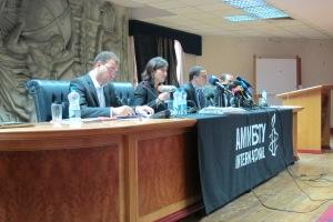 Hassiba Hadj Sahraoui alla conferenza tenuta a Il Cairo iil 2 ottobre 2012 presso il Sindacato dei Giornalisti