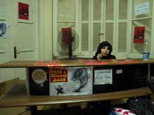 Ufficio dei Tamarroud vicino Tahrir