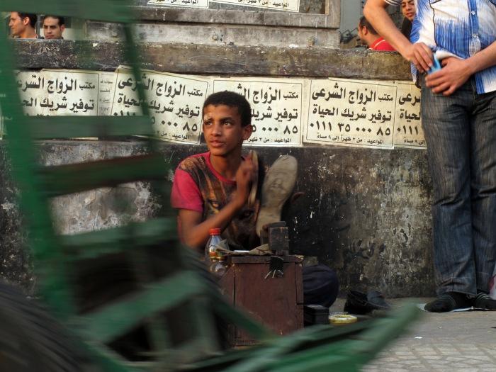 Lustrascarpe a Tahrir
