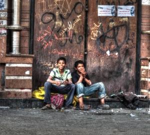 Bambini di strada a Tahrir
