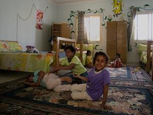 Bambine di strada presso il centro Banati