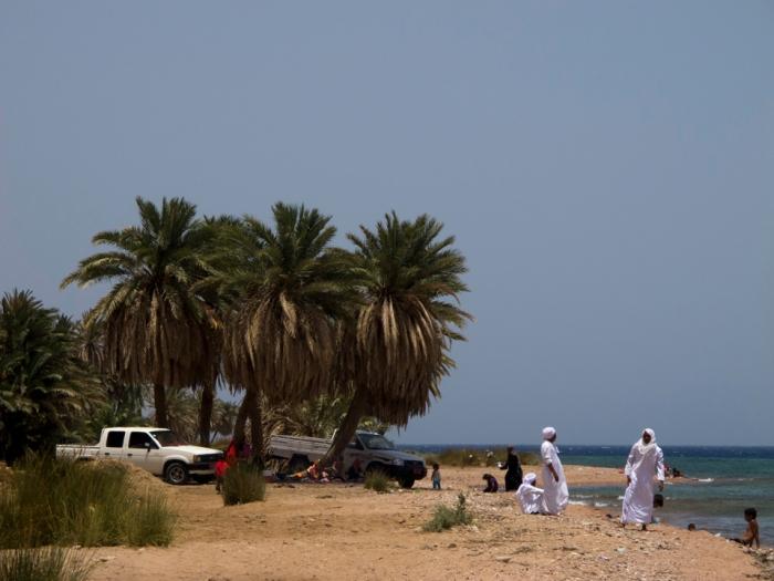 Beduini a Dahab, Sinai. Egitto