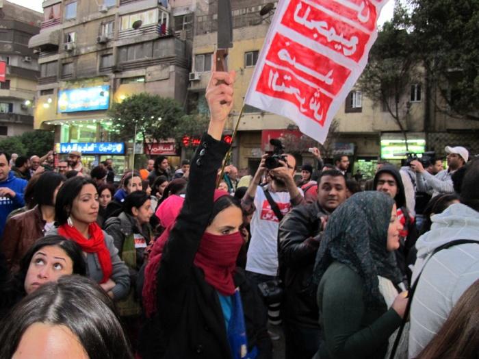 Marcia delle donne a il Cairo 17 febbraio 2013