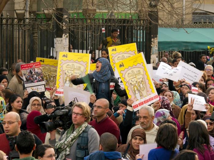 Marcia delle donne a il Cairo