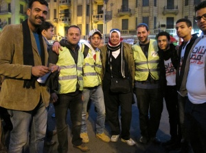 Nancy Omar a Tahrir con TahrirBG