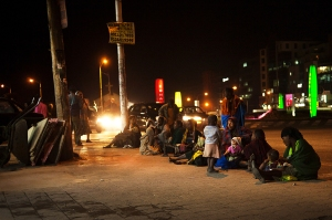Night life near Bole Medhaniyalem, Addis Ababa