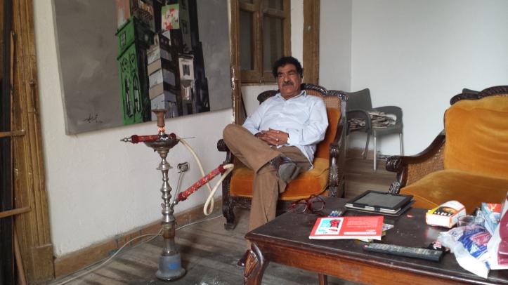 Mohamed Abla nel suo studio a Il Cairo