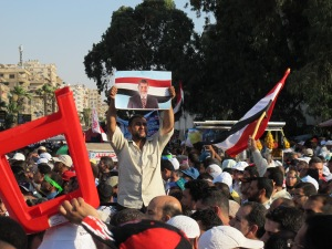 Manifestazione dei FM a Rabaa Al Adawaya